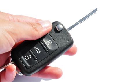 Autoschlüssel bedienen